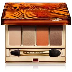 Clarins Sunkissed Summer Eyeshadow Palette ($43) ❤ liked on Polyvore featuring beauty products, makeup, eye makeup, eyeshadow, beauty, no color, clarins eyeshadow, palette eyeshadow, clarins and clarins eye shadow