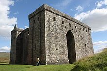 Hermitage Castle, the strength of Liddesdale. An important stronghold for the Scottish Marches. Its holder, the Keeper of Liddesdale, usually had equal status to the Scottish Wardens of the Marches..
