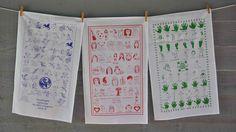 Children's Art on Tea Towels #schoolfundraiser #childrensart CreativeTeaTowels.com