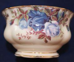 "Royal Albert Moonlight Rose Sugar Bowl c1987. 3-3/4"" x 2"" tall. $32.00 at bentarms on ebay, 8/5/15"