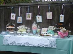 Sweets/baby shower/vintage
