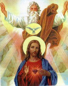 Holy Trinity...God the Father, God the Son, and God the Holy Spirit