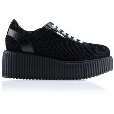 Karl Lagerfeld K/Sneaker Platform (23.535 RUB) ❤ liked on Polyvore featuring shoes, sneakers, black, chunky black shoes, round toe shoes, karl lagerfeld shoes, black sneakers and kohl shoes