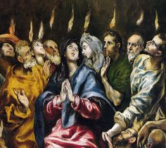 El Greco - Pentecost, 1610 at Prado Museum Madrid Spain