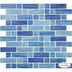 Glass Mosaic Tile Water Art Blue Mix for swimming pool and spa. Blue Tile Backsplash Kitchen, Backsplash Design, Navy Blue Walls, Glass Pool, Kitchen Models, Water Art, Blue Tiles, Blue Mosaic, Glass Mosaic Tiles