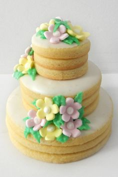 Wedding cake cookie by Cakes for Occasions