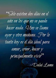 Estas frases de Dalai Lama tendrán un gran impacto en tu vida. Dalai Lama, Spanish Inspirational Quotes, Spanish Quotes, French Quotes, Spiritual Messages, Motivational Phrases, Love Messages, Wise Quotes, New Words