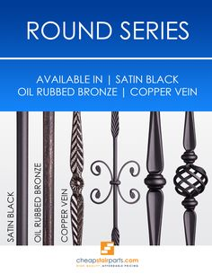 Round balusters offer a clean installation because you can just drill a round hole and don't require a shoe for the install. A shoe may still be used if you prefer the look. Another great thing about Round balusters is you can use them in both Modern and Traditional style homes.  Visit our site to see the complete Round series:https://cheapstairparts.com/products/iron-balusters/round/  #StairRemodel #InteriorDesign #Staircase #StaircaseRemodel #Stairs #IronBalusters