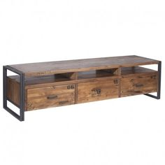 Mueble de tv en metal y madera Michigan
