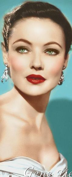 Gene Tierney: Most. Beautiful. Woman. Ever.