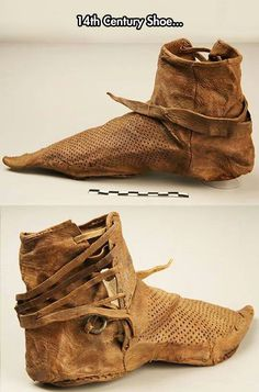What Shoes Used To Look Like 700 years ago. 14th century
