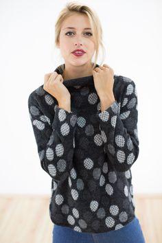 Sweatshirts - Pullover O´yeah schwarz gepunktet - ein Designerstück von Shoko bei DaWanda