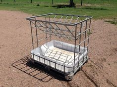 """No waste hay feeders. Great for calves up to 600 pounds or great for goats. I have several of these that I've built. They are very sturdy. Wire welded. Can hold 2 small square bales each. bottom pan has the drain incase it rains. Heavy enough the wind doesnt blow them over and calves don't push them around. Dimensions are 48"""" long, 39"""" wide, 46"""" tall. Make an offer. The worst I can do is say no. Thanks for looking. Call or text 785-three four two-795..."""