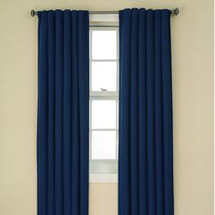 Eclipse Curtains Tavern BackTab Blackout Window Panel in Indigo Indigo Bedroom, Cool Curtains, Curtains With Blinds, Window Curtains, Blackout Windows, Decor Blinds, Contemporary Curtains, Home