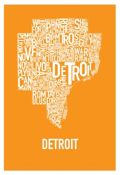 Detroit Posters by Hunter Langston, via Behance