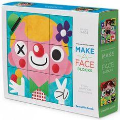 Le puzzle cubes Funny Face de la marque Crocodile Creek est un atout pour divertir les plus petits et développer leur imagination.