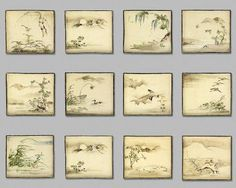 Plates of the twelve months, early 18th century, Japan, by Ogata Kenzan