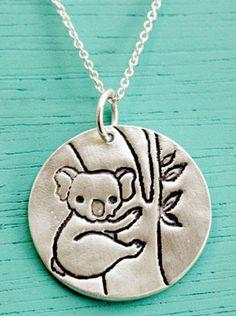 Silver Koala Necklace by Susie Ghahremani / shop.boygirlparty.com #koala #necklace #jewelry