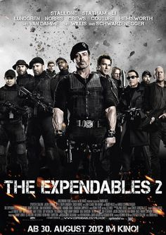 The Expendables 2 Filmplakat (2012) - The Expendables 2, DVD, Blu-ray, Soundtrack, Bücher mit Preis, The Expendables 2 Trailer, AUF EINEN BLICK! + Filminfo: Filmbeschreibung, HD Kinotrailer Links, offizielle Website, Darsteller, Regisseur, Produzent, uvm.