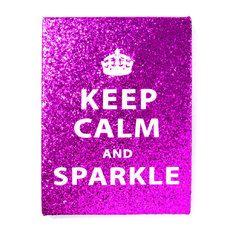 Keep Calm and Sparkle Glitter Wall Canvas