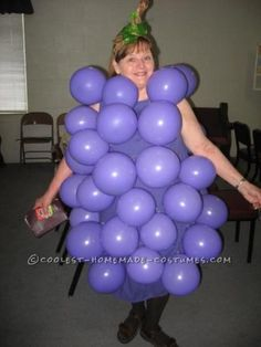 This grape costume is so cute -- and so, so easy!