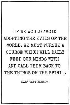 the need for daily spiritual nourishment