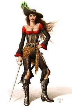 female pirate art   Fantasy Pirate Female