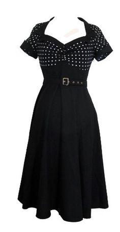 Skelapparel Plus Size Vintage Retro Design Polka Dot Flare Party Dress This dress gonna make you feel so pretty! It features retro design polka dot top with Dresses For Big Bust, Plus Size Dresses, Short Sleeve Dresses, Plus Size Vintage, Retro Vintage, Dress Vintage, Wedding Dress Body Type, Chiffon, Best Wedding Dresses