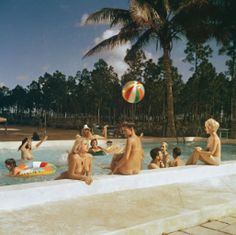 Bunny Yeager - Nudist Swimming Pool, Homestead, FL 1962