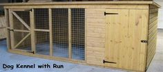 cabins made from pallets | Double Kennel With Seperate Runs Ideal For The Dog Breeder. We make ...