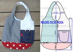 A large collection of simple handbags with patterns- Eine große Sammlung von einfachen Handtaschen mit Mustern A large collection of simple handbags with … - Bag Patterns To Sew, Sewing Patterns, Diy Sac, Denim Handbags, Fashion Handbags, Denim Purse, Recycle Jeans, Old Jeans, Patchwork Bags
