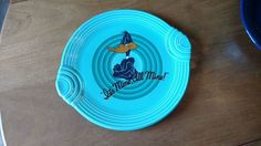 Fiesta® Turquoise Daffy Duck Looney Tunes Handled Cake Plate made by Homer Laughlin China   eBay
