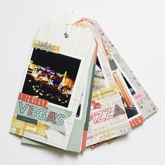 Creating a travel tag mini album using Canon SELPHY 2x2 stickers