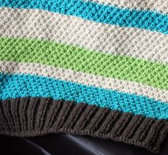 Ravelry: Easy Striped Baby Blanket by Shannon Brown