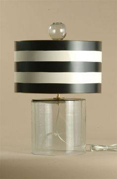 Navy Blue And White Stripe Lamp Shade 59 Navy Blue And White For The Home Pinterest Drum