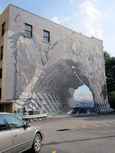 Magical Tunnel Imaginative and prescient by Blue Sky - Columbia, SC (July Graffiti, 3d Street Art, Building Art, 3d Drawings, Covered Bridges, Optical Illusions, Urban Art, South Carolina, Places To See