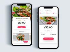 Order food flow by Johny vino™ Mobile Ui Design, App Ui Design, Food Design, Meat Delivery, Delivery App, Ios Ui, Order Food, Screen Design, Mexican Food Recipes