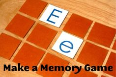 Make your own memory game - this is a great gift for kids. You can use the alphabet or pictures or numbers or whatever images your child is interested in.