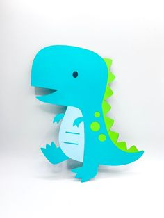 This Extra Large Dinosaur Cutout inches Diecut Dino is just one of the custom, handmade pieces you'll find in our party décor shops. Dinosaur Birthday Party, Baby Birthday, Largest Dinosaur, Baby Dinosaurs, Baby Shower Centerpieces, T Rex, Etsy, Dinosaur Decorations, Handmade