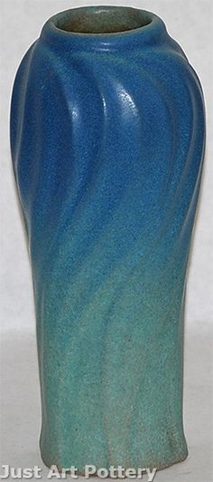 Van Briggle Pottery Late Teens Leaves Vase (Shape 824) from Just Art Pottery
