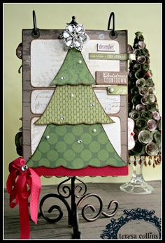 TERESA COLLINS DESIGN TEAM: Christmas Cottage Coundown flip album by Cheri Piles Part 1