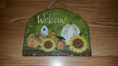 Fall welcome sign for reception