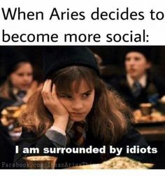 Any Aries woman (and everyone who knows her) gets that this powerful leader of the zodiac signs only wants the best. So here are the 12 BEST Aries memes for describing her personality traits EXACTLY. Aries Zodiac Facts, Aries Quotes, Zodiac Signs, Sagittarius, Astrology Taurus, Images Harry Potter, Harry Potter Memes, Potter Facts, Aries Traits