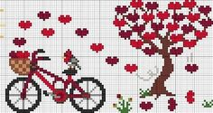 Ideas Embroidery Stitches Heart Charts For 2019 Cross Stitching, Cross Stitch Embroidery, Embroidery Patterns, Crotchet Patterns, Loom Patterns, Cross Stitch Heart, Cross Stitch Flowers, Cross Stitch Designs, Cross Stitch Patterns