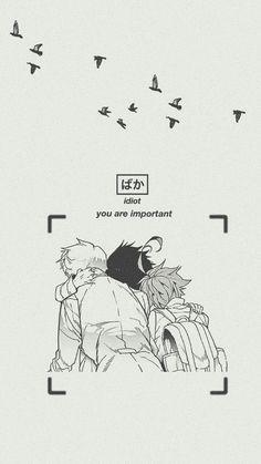 Yakusoku No Neverland Wallpaper/ Loockscreen Ray, Emma And Norman Fondo de panta. - Yakusoku No Neverland Wallpaper/ Loockscreen Ray, Emma And Norman Fondo de pantalla HD iPhone Anime - Anime Wallpaper Phone, Haikyuu Wallpaper, Retro Wallpaper, Wallpaper Backgrounds, News Wallpaper, Otaku Anime, Manga Anime, Anime Art, Animes Wallpapers