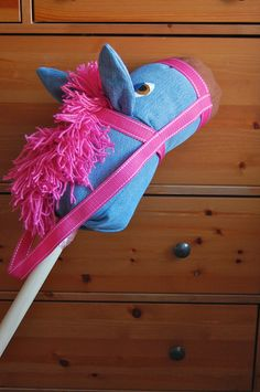 Make a Stick Horse from Old Jeans