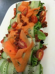 Cucumber & Carrot Ribbon Salad #crushediceevents