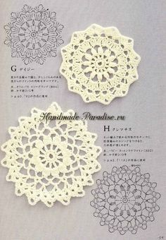 Японский журнал со схемами вязания крючком