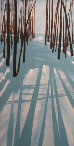 """""""Rabbit Trail"""" Acrylic on Canvas. 20""""x 40""""x 1.5"""" Artist G. Sellen"""