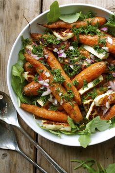 Roasted Carrots with Haloumi & Fresh Dill (There is a vegan option which replaces the Haloumi for Tofu)